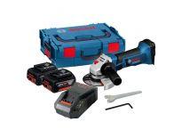 Bosch GWS 18-125 V-LI 18V Li-Ion Accu haakse slijper set (2x 5.0Ah accu) in L-Boxx - 125mm - 060193A30F