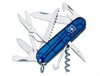Victorinox 1.3713.T2 Huntsman zakmes - 15 delig - transparant blauw