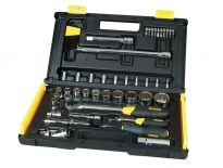 "Stanley 1-94-658 50 delige MicroTough™ 1/4"" & 1/2"" Dopsleutelset in koffer"