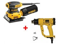 DeWalt DWE6411SET Handpalm vlakschuurmachine (DWE6411) & Heteluchtpistool (D26411) combiset - DWE6411SET-QS