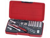 Teng Tools T1436 36 delige doppenset in koffer