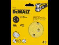 DeWalt DT3101 Schuurschijf - K40 - 125mm (10st) - DT3101-QZ