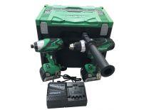 Hitachi 18VPACK2SS 18V Li-Ion accu boor-/schroefmachine (DS18DSDL) & Slagschroevendraaier (WH18DSDL) combiset (2x 5.0Ah accu) in HSC - 754954