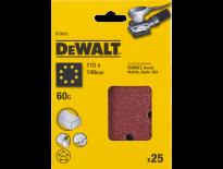 DeWalt DT3012 Schuurpapier - P60 - 115x115mm (25st) - DT3012-QZ