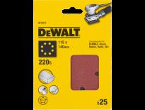 DeWalt DT3017 Schuurpapier - P220 - 115x115mm (25st) - DT3017-QZ