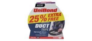 UniBond 1821372 DUCT tape zwart 50mm x 25m +25% extra