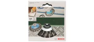 Bosch 2609256511 Kegelborstel voor haakse en rechte slijpmachines - gevlochten draad, 100 mm