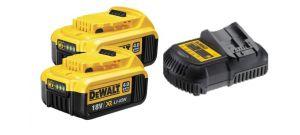 DeWalt starterset 18V 2x 4.0Ah accu + oplader - DCB182 + DCB105