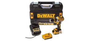 DeWalt DCD790D2 18V Li-Ion accu boor-/schroefmachine set (2x 2.0Ah accu) in TSTAK - koolborstelloos - DCD790D2-QW