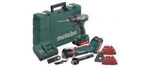 Metabo Combo Set 2.6.2 18V Li-Ion accu klopboor-/schroefmachine (SB 18) & multitool (MT 18 LTX) combiset (2 x 2.0Ah accu) in koffer - 685088000