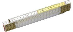 Stanley 0-35-458 Duimstok - hout - wit/geel - 2m