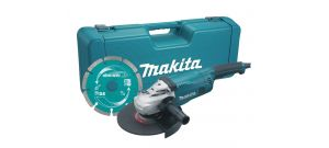Makita GA9020KD Haakse slijper incl. diamantzaagblad in koffer - 2200W - 230mm