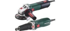Metabo 690916000 Haakse slijper (WEA 15-125 Quick) en rechte slijper (GE 710) combiset