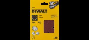 DeWalt DT3030 Schuurpapier - P40 - 115x115mm (25st) - DT3030-QZ