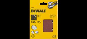DeWalt DT3035 Vlak schuurvel - K240 - 115 x 115mm (25st) - DT3035-QZ
