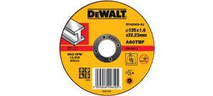DeWalt DT42300 metaal doorslijpschijf recht voor metaal - 125x1.6mm - DT42300-XJ