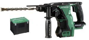Hitachi DH18DBL(W4S) 18V Li-Ion Accu SDS-plus combihamer body in HSC - 2,6J - koolborstelloos