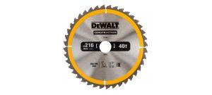 Dewalt DT1953 Construction Cirkelzaagblad - 216 x 30 x 40T - Aluminium / Hout (Met nagels) - DT1953-QZ