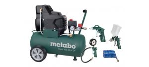 Metabo Basic 250-24 W OF SET Compressor + LPZ-4 toebehorenset - 1500W - 24L - 100 l/min - 690865000