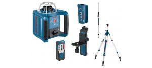 Bosch GRL 300 HV rotatie laser set in koffer + BT 300 HD Statief + GR 240 Meetlat - 061599403Y