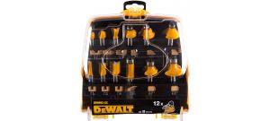 DeWalt DR9992 / DT90016 12 delige frezenset in cassette - DR9992-XC