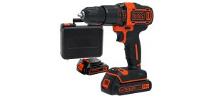 Black+Decker BDCHD18KB 18V Li-Ion accu klopboor-/schroefmachine set (2x 1.5Ah accu) in koffer