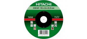 Hitachi 752531 Vlak model doorslijpschijf - 115 x 22,23 x 3mm - steen - C24R