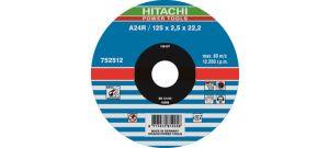 Hitachi 752515 Vlak model A24R doorslijpschijf - 230 x 22,23 x 3mm - metaal