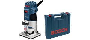 Bosch GKF 600 kantenfrees + 2 extra accessoires in koffer - 600W - 6-8mm - 060160A100
