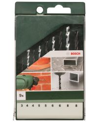 Bosch 2609255482 HSS-R 9-delige boorset - metaal / steen / hout