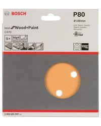 Bosch 2608605087 Schuurschijf C470 - K80 - 150mm (5st)
