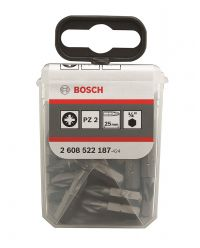 Bosch 2608522187 Pozidrive Bit 25 mm Extra Hard - PZ2 (25st)