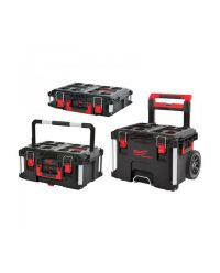 Milwaukee 4932464244 Packout 1 + 2 + 3 Opbergkoffer complete set