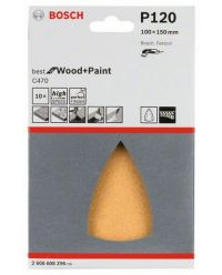 Bosch 2608608Z96 Schuurblad C470 Best for Wood + Paint - K120 - 100x150mm (10st)