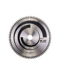 Bosch 2608640450 Optiline Cirkelzaagblad - 254 x 30 x 80T - Hout / Epoxy / Aluminium / Kunststof