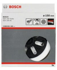 Bosch 2608601185 Schuurplateau - middelhard - 150mm voor GEX 125-150 AVE / GEX 150 AC / GEX 150 Turbo