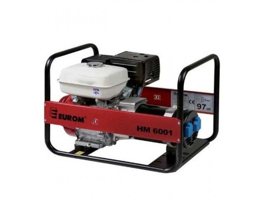 - Eurom HM 6001 Aggregaat - 4600W - Honda GX270 motor