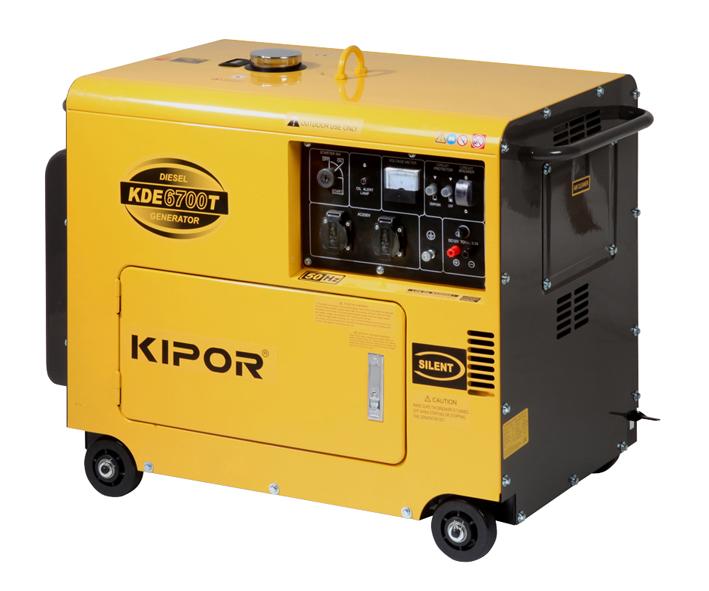- Kipor KDE6700T3 Diesel Aggregaat - 6000W(400V) - 1 - cylinder
