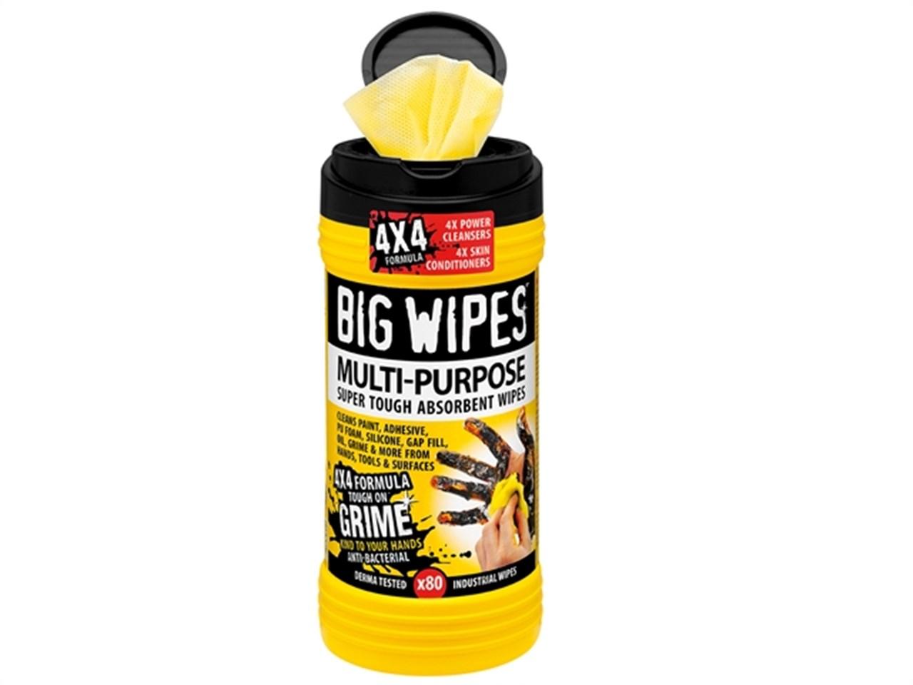 Afbeelding van Big Wipes 2410 0000 Multi Purpose Reinigingsdoekjes (80st)